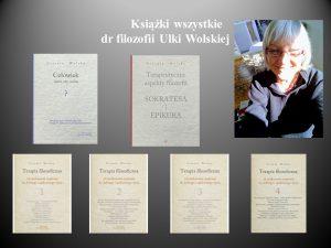 Permalink to:Książki i tomiki dr filozofii Ulki Wolskiej
